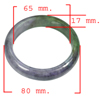 Unheated 430.93 Ct. Natural Gemstone Multi-Color Jade Bangle Size 80x65x17Mm.