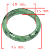 Unheated 343.95 Ct. Natural Gemstone Green Color Jade Bangle Size 75x60x15Mm.