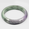 Unheated 388.01 Ct. Natural Gemstone Multi-Color Jade Bangle Size 80x63x15 Mm.