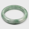 Unheated 372.54 Ct. Natural Gemstone Green Color Jade Bangle Size 80x62x15 Mm.
