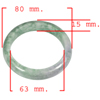 Unheated 405.56 Ct. Natural Gemstone Multi-Color Jade Bangle Size 80x63x15Mm.