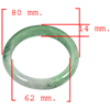 349.87 Ct. Natural Gemstone Green White Jade Bangle Size 80 x 62 x 14 Mm.