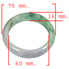 369.96 Ct. Natural Gemstone Multi-Color Jade Bangle Size 75 x 60 x 16 Mm.