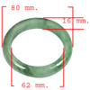 435.13 Ct. Natural Gemstone Green Jade Bangle Unheated Size 80 x 62 x 16 Mm.