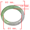 Unheated 387.87 Ct. Natural Gemstone Multi-Color Jade Bangle Size 80x60x15Mm.