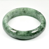 Unheated 457.61 Ct. Natural Gemstone Green Jade Bangle Size 80 x 65 x 17 Mm.