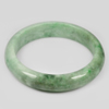 306.18 Ct. Natural Gemstone Green Color Jade Bangle Size 75x60x14 Mm. Unheated