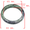 Unheated 423.51 Ct. Natural Gemstone Multi-Color Jade Bangle Size 80x65x17Mm.