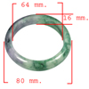 Unheated 400.45 Ct. Natural Gemstone Multi-Color Jade Bangle Size 80x64x16 Mm.