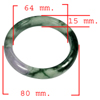 Unheated 378.96 Ct. Natural Gemstone Multi-Color Jade Bangle Size 80x64x15 Mm.