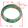 Unheated 382.29 Ct. Natural Gemstone Green Jade Bangle Size 75 x 60 x 17 Mm.