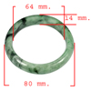 Unheated 367.33 Ct. Natural Gemstone Green Color Jade Bangle Size 80x64x14 Mm.