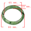 404.19 Ct. Natural Gemstone Green Color Jade Bangle Size 80 x 65 x 15 Mm.
