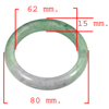 Unheated 388.35 Ct. Natural Gemstone Multi-Color Jade Bangle Size 80x62x15 Mm.
