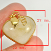 43.00 Ct. Natural Gemstone Multi-Color Jade Heart Nickel Pendant 27x22Mm.