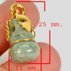 19.02 Ct. Natural Gemstone Green Jade Calabash Nickel Pendant 25x11Mm.