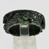 Unheated 23.51 Ct. Natural Gemstone Black Jade Dargon Carving Ring Size10.5