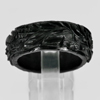 Unheated 26.61 Ct. Natural Gemstone Black Jade Dargon Carving Ring Size10