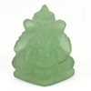 10.61 Ct. Natural Gemstone Green Color Jade Ganesha Carving 18.8x14.8Mm.