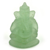 13.61 Ct. Natural Gemstone Green Color Jade Ganesha Carving 22x14.8Mm.