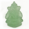 6.11 Ct. Natural Gemstone Green Color Jade Ganesha Carving 18.7x12Mm.