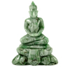 Unheated 225 Ct. Natural Gemstone Green White Jade Budda Carving 59x45x20Mm.