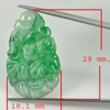 10.94 Ct. Natural Gem Green White Jade Flower Carving Drilled Pendant 22x13.6Mm.