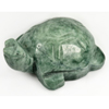 306.35 Ct. Natural Gemstone Green Color Jade Turtle Carving 48x57Mm.