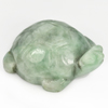 263.65 Ct. Natural Gemstone Green White Jade Turtle Carving 48x38Mm.