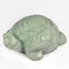 250.05 Ct. Natural Gemstone Green White Jade Turtle Carving Size46x35Mm.