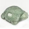 250.96 Ct. Natural Gemstone Green Color Jade Turtle Carving 49x35Mm.