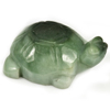 293.36 Ct. Natural Gemstone Green Color Jade Turtle Carving 50x37Mm.