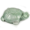 Unheated 233.68 Ct. Natural Gemstone Green White Jade Turtle Carving 49x36Mm.