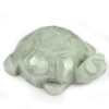 Unheated 246.80 Ct. Natural Gemstone Green White Jade Turtle Carving 51x36Mm.