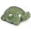 272.12 Ct. Natural Gemstone Green Color Jade Turtle Carving 51x35Mm. Unheated