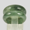 Unheated 24.52 Ct. 2 Pcs. Natural Gemstone Green Color Jade Ring Size5