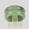 Unheated 23.45 Ct. 2 Pcs. 21x15Mm. Natural Gemstone Green Color Jade Ring Size5