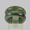 Unheated 22.42 Ct. 2 Pcs. 21x15Mm. Natural Gemstone Green Color Jade Ring Size5