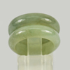 Unheated 23.92 Ct. 2 Pcs. Natural Gemstone Green Color Jade Ring Size 5