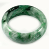 Green White Jade Bangle Size 80 x 63 x 24 Mm. 600 Ct. Natural Gemstone Unheated