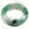 Green White Jade Bangle Size 80 x 63 x 25 Mm. 675 Ct. Natural Gemstone Unheated