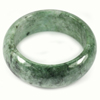 Green White Jade Bangle Size 80 x 63 x 25 Mm. 725 Ct. Natural Gemstone Unheated