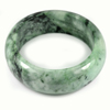 Green Color Jade Bangle Size 80 x 63 x 25 Mm. 725 Ct. Natural Gemstone Unheated