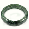 Green Color Jade Bangle Size 88x69x17 Mm. 572.33 Ct. Natural Gemstone Unheated
