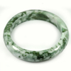 Green White Jade Bangle Size 88x68x16 Mm. 495.12 Ct. Natural Gemstone Unheated