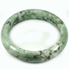 Green White Jade Bangle Size 88x67x15 Mm. 470.91 Ct. Natural Gemstone Unheated