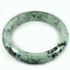Green Color Jade Bangle Size 88x67x14 Mm. 454.87 Ct. Natural Gemstone Unheated