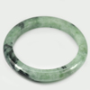 Green Color Jade Bangle Size 87x67x11 Mm. 314.85 Ct. Natural Gemstone Unheated