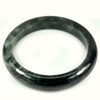 Green Black Jade Bangle Size 87x69x14 Mm. 448.75 Ct. Natural Gemstone Unheated