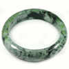 Green Jade Bangle Size 88 x 67 x 17 Mm. 530.10 Ct. Natural Gemstone Unheated